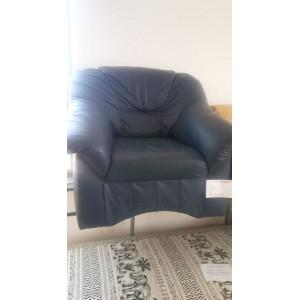 Kék bőr fotel