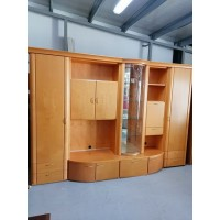 Bükkfából készült nappali szekrénysor