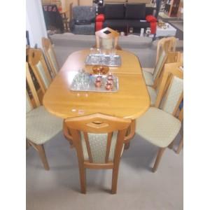 Fa asztal 8 db székkel