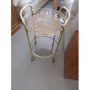 Arany üveges asztalka