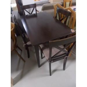Tömör fa étkező asztal 4 székkel