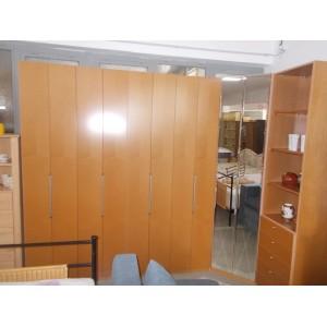 Éger tükrös harmonika ajtós sarok gardrób szekrény