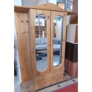 Fenyőfa tükrös- fiókos előszoba