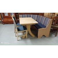 Konyhai sarokülő + asztal + 2 db szék