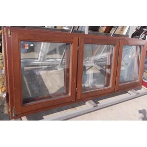 Bontott 3szárnyú fa ablak(230x90)