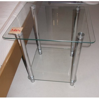 Üveglapos kis asztalka