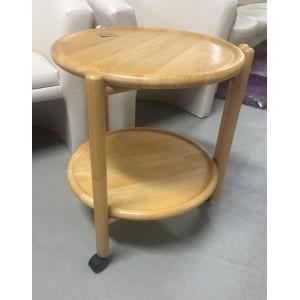 Gurulós kerek asztalka (virágtartó)