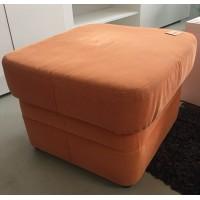 Narancs színű szövetes, tárolós puff