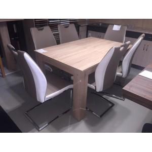 ADÉL 6 személyes étkezőgarnitúra FÉLIX asztallal