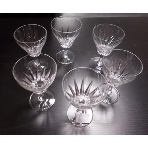 6db Likőrös üveg pohár