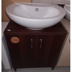 Fürdőszobai mosdós szekrény(dió)