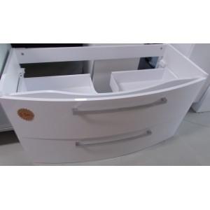 Falra szerelhető fürdőszobai mosdós alsó szekrény