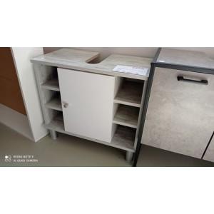 1 ajtós + nyitott polcos mosdó alatti szekrény