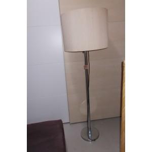 Henger alakú textil búrás állólámpa