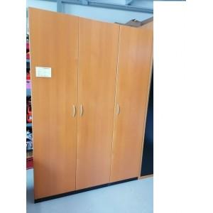 3 ajtós bükk színű gardrób