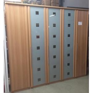 5 ajtós vállfás-polcos gardróbszekrény