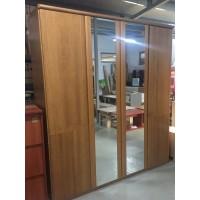 Égerfa frontos , 4 ajtós tükrös gardróbszekrény