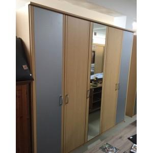 5 ajtós tükrös  gardróbszekrény