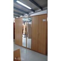 Extra nagy 6 ajtós dupla tükrös ruhás szekrény