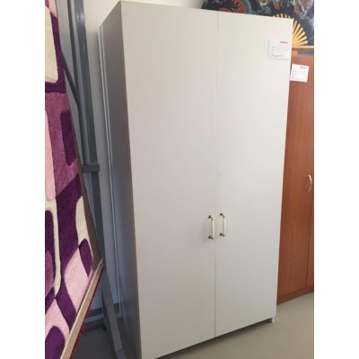 2 ajtós ruhásszekrény fehér színben