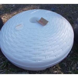 Rattan hatású , műanyag napernyőtartó