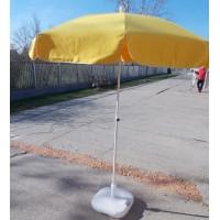 Sárga napernyő talppal