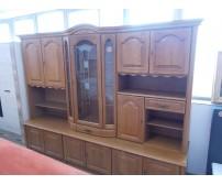 Tölgy vitrines nappali szekrénysor