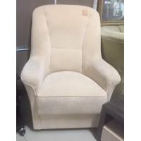 Bézs szövetes gurulós fotel