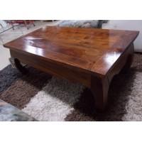 Tömör afrikai fából készült , masszív dohányzóasztal