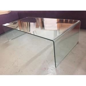Modern üveg dohányzóasztal