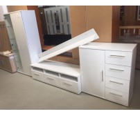 4 elemes fehér nappalibútor