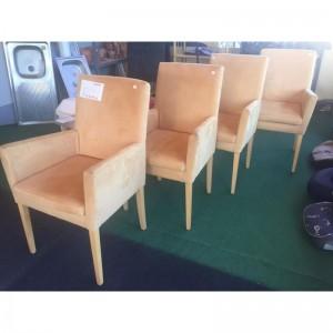 Karfás fotel - sárga