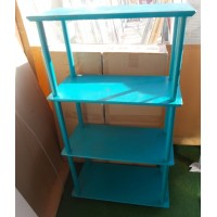 Használt IKEA álló polc, türkiz színben