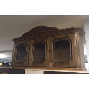 Tölgyfából készült vitrines felső-szekrény